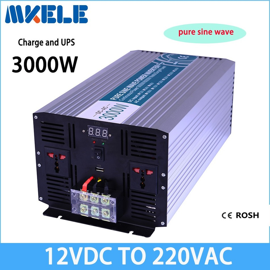 Mkp3000-122-c автономный немодулированный синусоидальный сигнал инвертор 3000 Вт 12 В 220 В Солнечный Инвертор преобразователь напряжения с зарядное…
