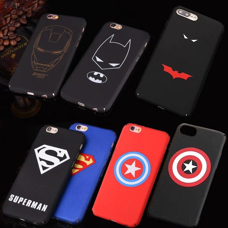 Marvel Avengers Iron Man Superman Batman Case For iphone 6 6S Plus 7 8 Plus X Phone Cases PC Hard...  iphone 7 cases for men | Top 10 Slim iPhone 7 Cases (Oct 2016) Marvel Avengers Iron Man Superman Batman font b Case b font font b For b font