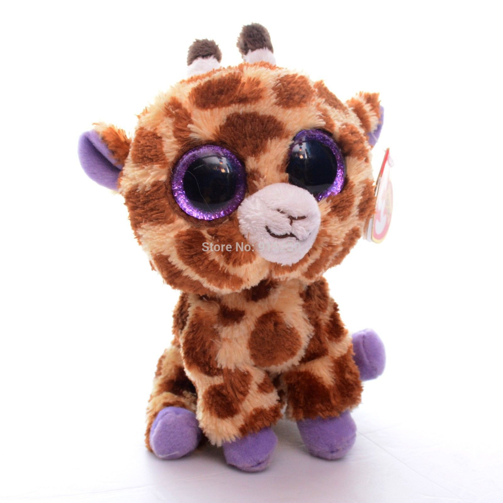 Original Ty Collection Brown Giraffe Plush Toys For Kids Doll