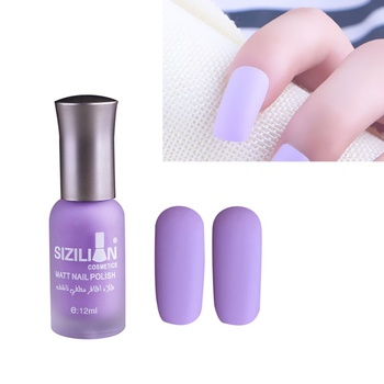 1 Bottle 12ml Matte Dull Nail Polish Fast Dry Long-lasting Nail Art Varnish Lacquer Nail Color Nail Polish