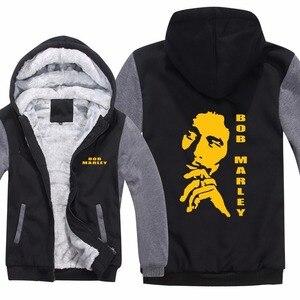 Image 5 - Sweat à capuche pour hommes, Reggae Bob Marley, sweat shirt molletonné, fermeture éclair, décontracté, veste et manteau de sport, nouvelle collection