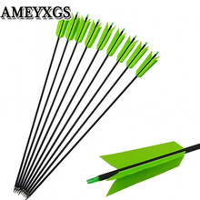 6/12Pcs 30 Spine 400 Archery Carbon Arrows Target Flu-Flu 4 Turkey Feathers Broadhead For Hunting Shooting Accessories