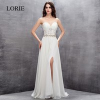 Sweet A Line Princess Wedding Dresses 2018 Vestidos De Noiva Sheer Lace Chiffon Bridal Dress Sleeveless
