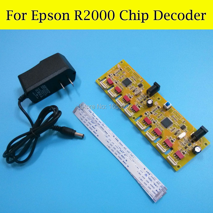 Newest Chip Decoder For EPSON R2000 Printer Compatible R2000 Ink Cartridge Chip Decoder недорого