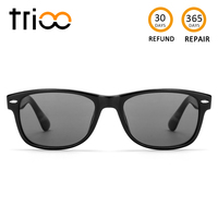 0957d8313b TRIOO Driving Prescription Glasses Black Square Graduate Unisex Sunglasses  Myopia Nearsighted Shades UV Block Eyeglasses Tint