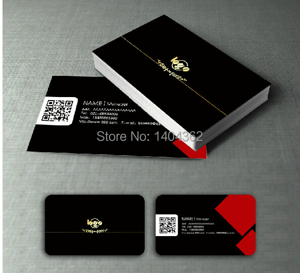 300gsm Custom Coated Paper Matte Laminated Business Cards Printing High Grade Glossy Paper Business Card