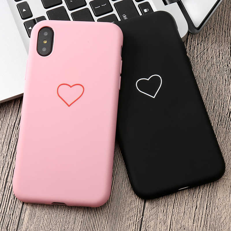 น่ารัก 3D ซิลิโคน Love Heart สำหรับ iPhone X XS MAX XR 6 6S 5 5S SE 8 7 Plus 11 PRO MAX 2019 6.5In Coque Fundas