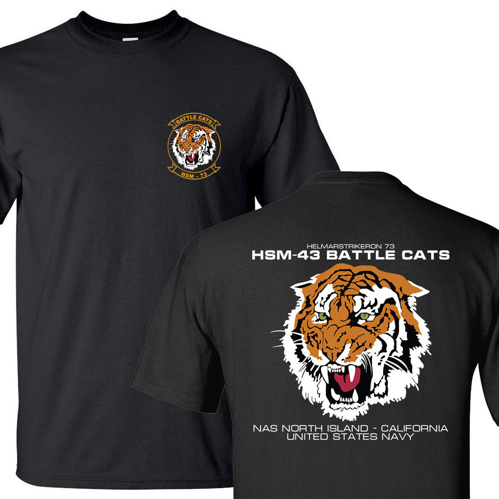 US $14 24 5% OFF|2019 New Arrival T Shirt HSM 73 Battlecats Helicopter  Maritime Strike Squadron US Navy T SHIRTS S 3XL Male Best Selling T  Shirt-in