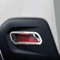 Para Subaru XV Crosstrek ABS cromo accesorios 2012  2013  2014  2015 LUZ ANTINIEBLA TRASERA niebla cubierta de la lámpara Trim estilo de coche