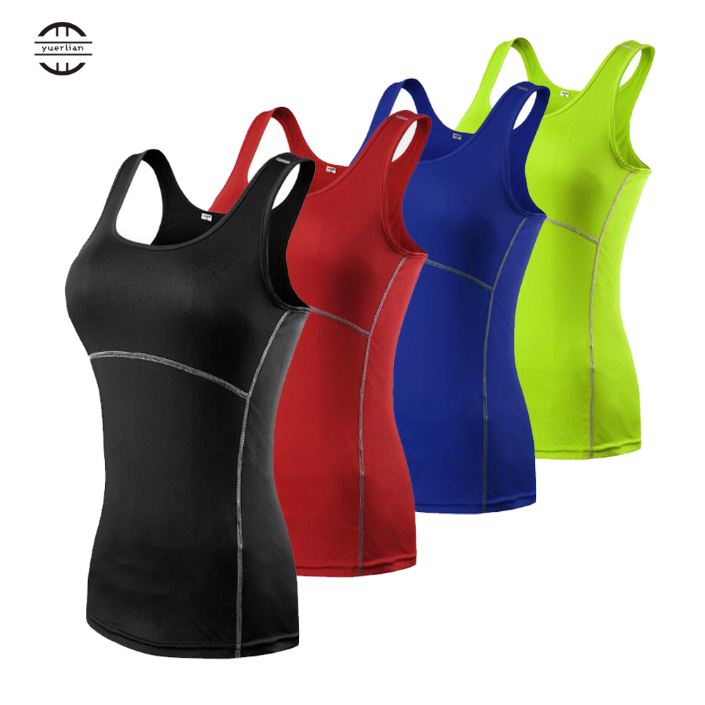 Yuerlian Seamless Yoga Tank Top Dry Fit 7 Colors Gym Sport Shirt Fitness Sleeveless Women Tight Breahtable Running Sportswear in Yoga Shirts from Sports Entertainment