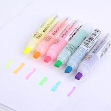 6 шт./партия Kawaii M & G окраска Радуга маркер ручка маркер Красочный школьные принадлежности забавные Канцелярские наборы офисные