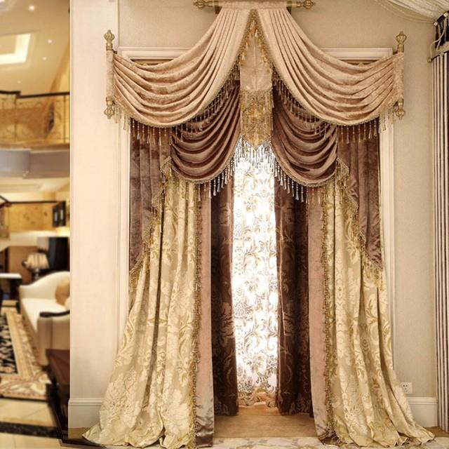Estremamente di lusso tende per soggiorno camera da letto di ...