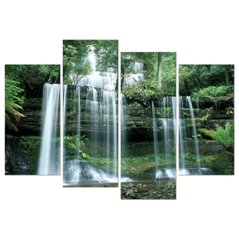 Waterfall Wall Art animated waterfalls wall art promotion-shop for promotional