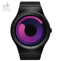 Shengke Original Brand Women Wristwatches Sports Watch Steel Mesh Strap Waterproof Chic Quartz Clock Limited Edition