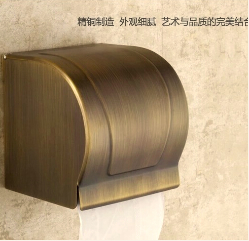 BECOLA antique paper towel rack Thick waterproof paper towel box The closed toilet paper holder Bathroom shelf thickening antique bronze suspension carved paper towel rack europe white bathroom paper holder toilet paper box toilet accessores sl 5908f