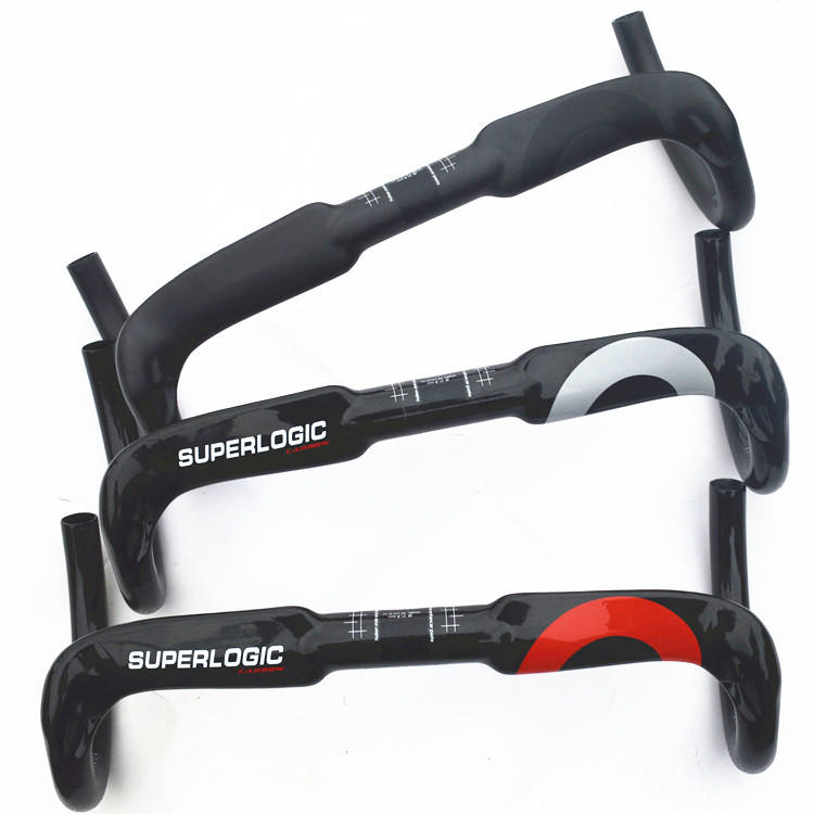 superlogic cycling bicycle road handlebar full carbon fibre bike handlebars 31.8*400/420/440 bicycle parts inner cable routing free shipping ican full carbon handlebar road bike bicycle handlebars hb003 31 8 400 420 440mm