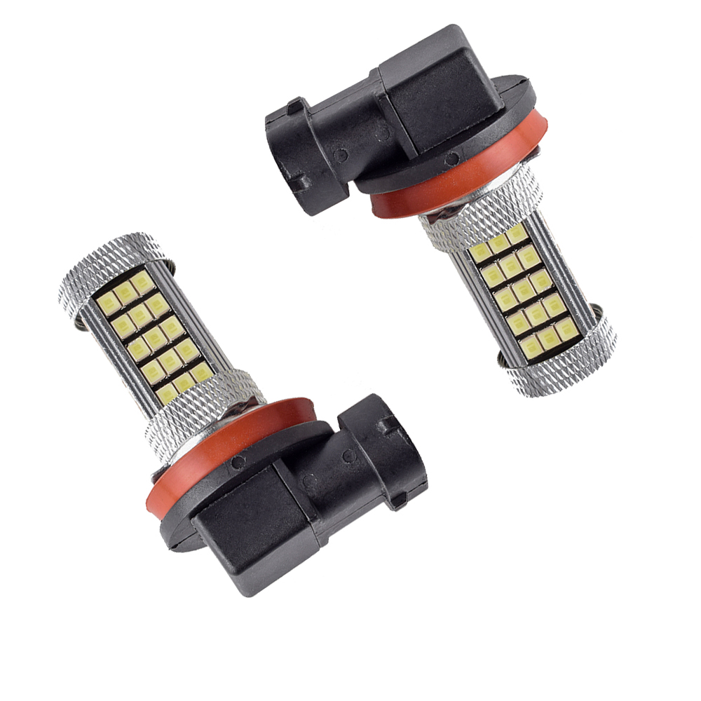 2PCS Canbus H8 H11 6000K 2500ML LED 12V Car Auto Fog Super White Lights Bulbs Lamps