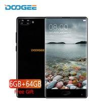 Doogee לערבב 4 גרם 5.5 Inch טלפון נייד אנדרואיד 7.0 6 GB 64 GB טביעת אצבע ליבת אוקטה 16MP Dual מצלמה טלפון חכם Celular מהיר תשלום