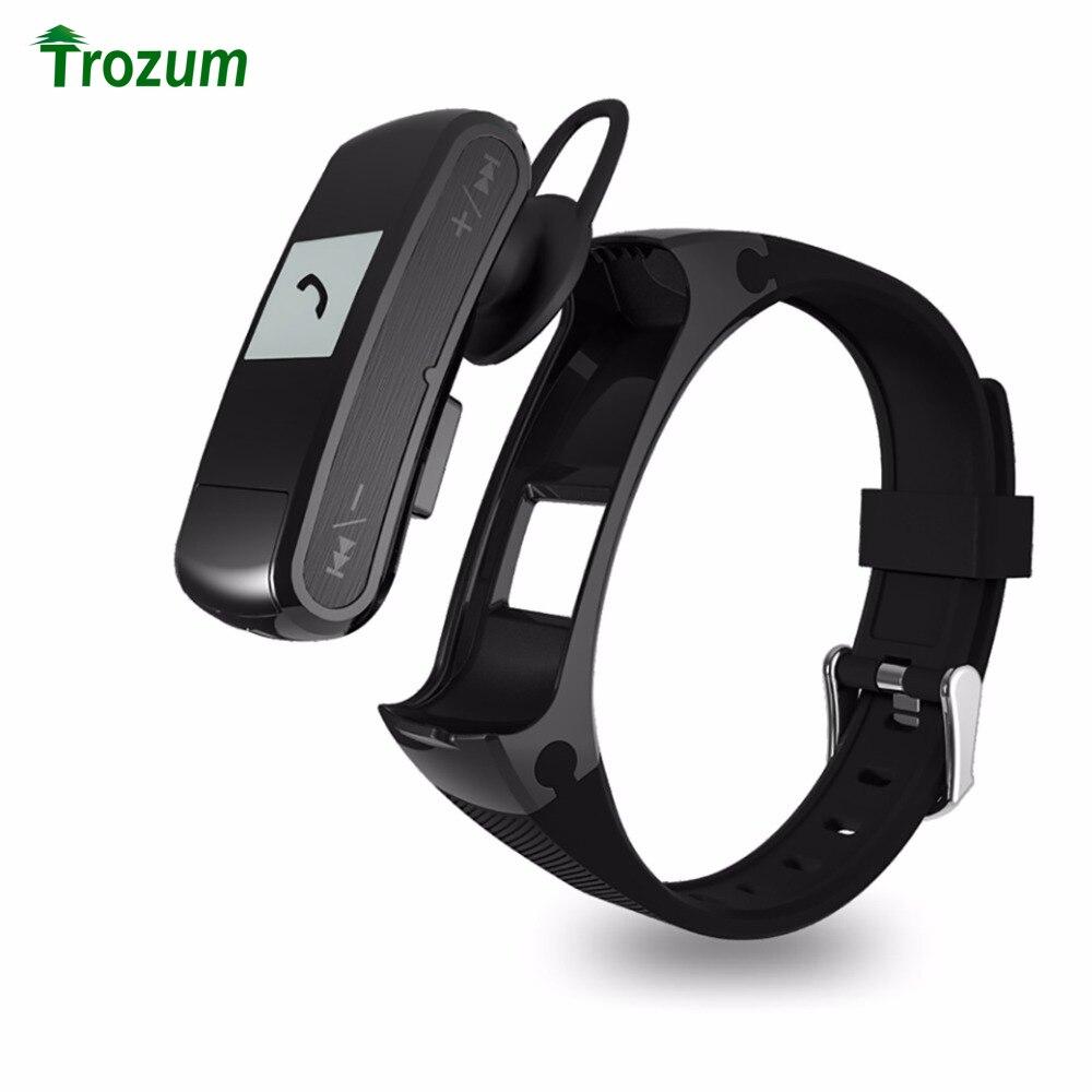 imágenes para Original f50 deportes pulsera pulsómetro inteligente banda soporte de tarjeta sd micro reproductor de mp3 auricular pulsera para android ios