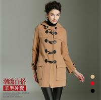 BURDULLY 2018 Women Autumn Winter Warm Wool Cashmere Coats Jackets Long Poncho Coats High Quality Quilt Long Coat Manteau Femme