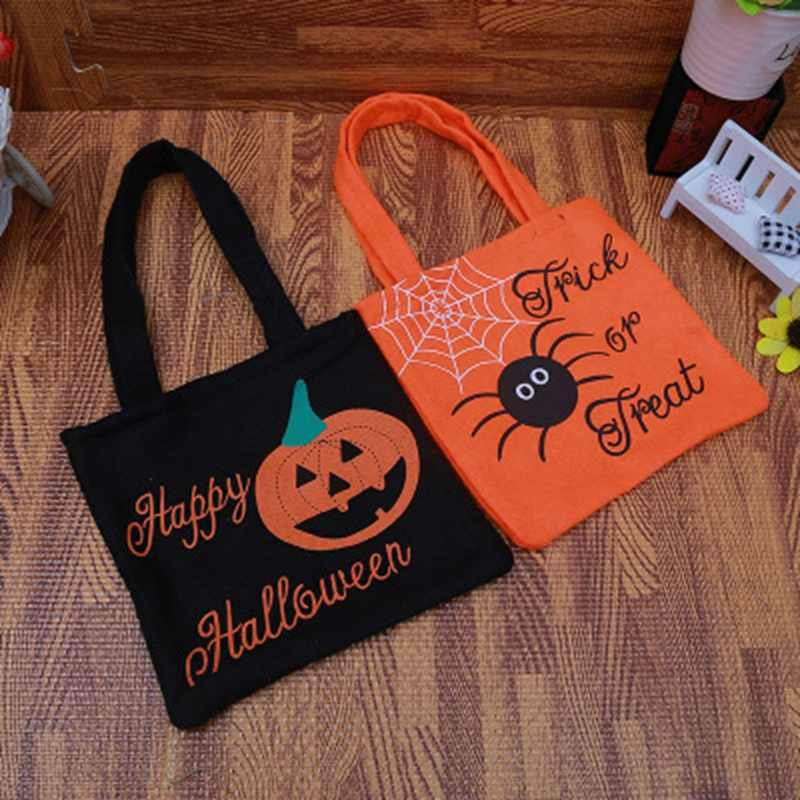 LASPERAL Women Handbags 2017 New Halloween Party Decoration Jewelry  Packaging Bags Pumpkin Spider Pattern Bags With 07606230f
