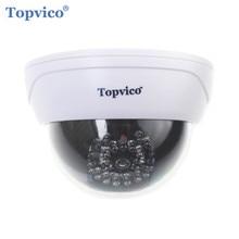 Topvico Fake Camera AA Battery for LED Dummy Surveillance Security Camera Dome CCTV Camera Home Security Surveillance System