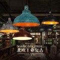 Estilo Loft RH Ferro Droplight Industrial Dispositivos Elétricos Da Lâmpada Do Vintage Pendente Para Sala De Jantar LEVOU Luz Pendurado Iluminação Interior