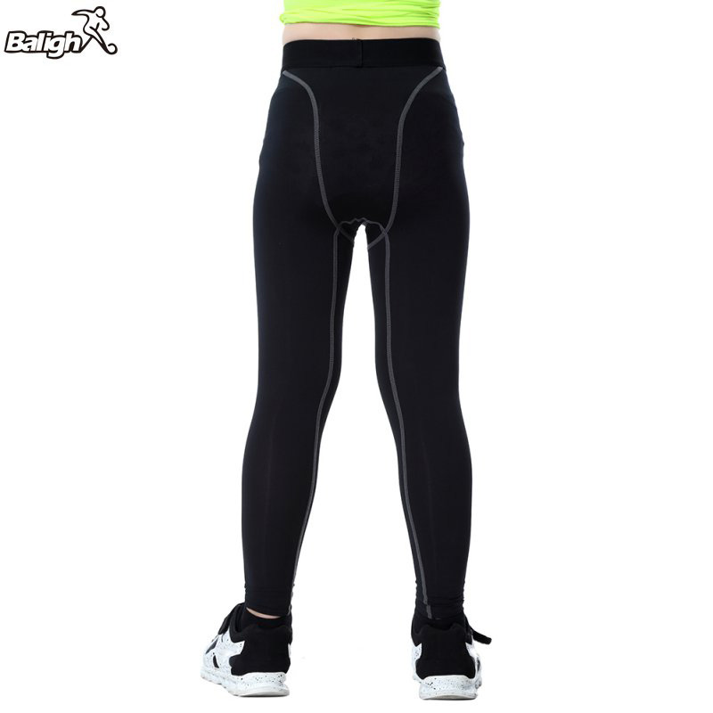 Balight Boys Compression Pants Quick Dry Elastic Waist Skinny Sports Shorts Polyester Running Sports Cycling Pants