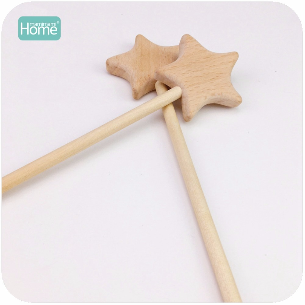Baby Rattle Baby Teether The magic star Natural Wooden Toy