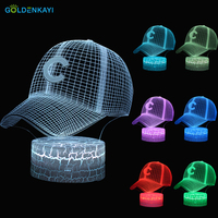 3D Letter C Hat LED Originality USB Night Lights Atmosphere Visual Table Lamp Colorful LED Light Cartoon Decor Lamp Gift
