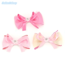 10pcs/lot Korea Style Kids Hairpins Bow Tie Shape Ribbons Lace Crystal Hair Clips Girls Hair Accessories
