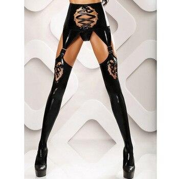 b6cccde65 Nuevo Punk gótico pu cuero Liga cinturones cintura correas moda muslo alta  pierna arnés suspensor ...