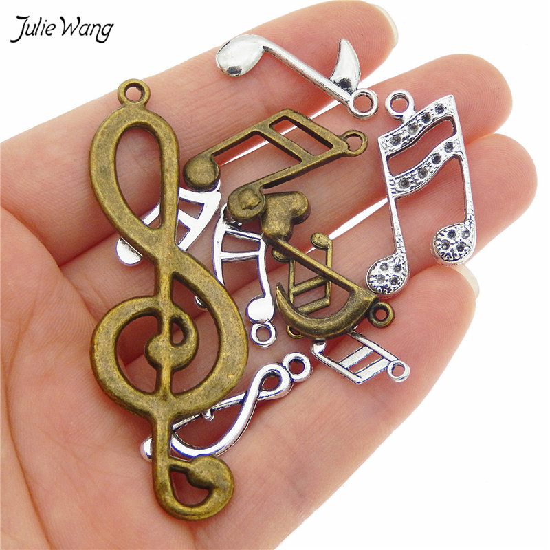 mixed Music Notes Pendant Charms Music Jewelry 1