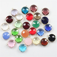20mm Top Quality Mix Color Faceted Crystal Glass Beads Connector Charm Crystal Beads for Jewelry Making