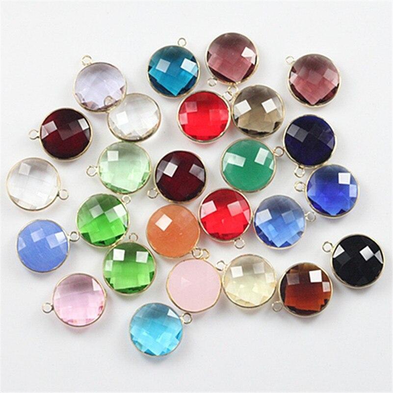 20mm Top qualité mélange couleur à facettes cristal verre perles connecteur charme perles de cristal pour la fabrication de bijoux