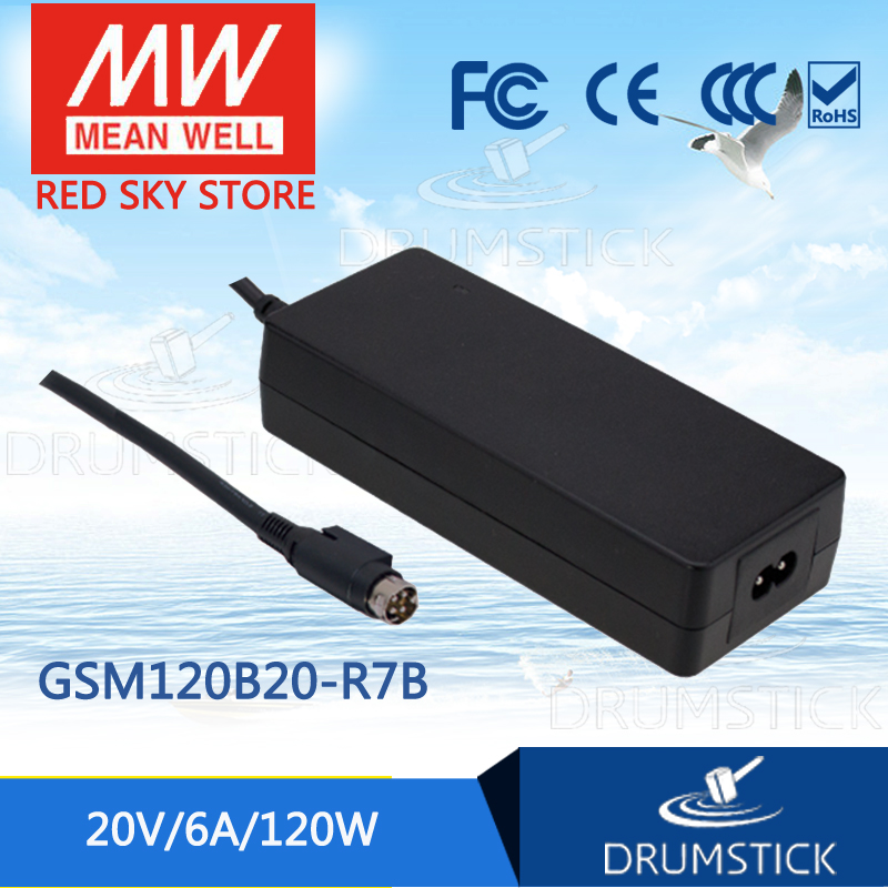 Genuine MEAN WELL GSM120B20-R7B 20V 6A meanwell GSM120B 20V 120W AC-DC High Reliability Medical Adaptor 1mean well original gsm160a24 r7b 24v 6 67a meanwell gsm160a 24v 160w ac dc high reliability medical adaptor