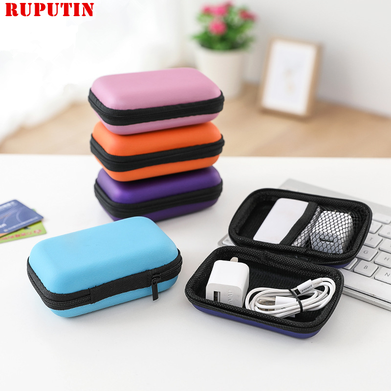 Earphone Wire Organizer Box Data Line Cables Storage Box Case Container Coin USB Headphone Protective Bag Travel Accessories Bag