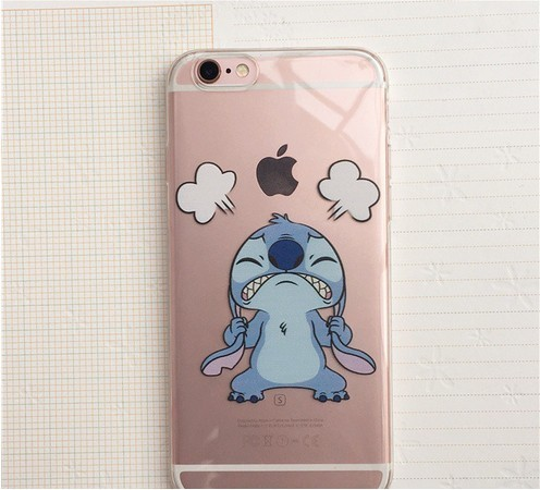 Lilo & Stitch Cartoon Emoji Soft TPU Clear Phone Case For iPhone 6 6S 6Plus 7 7Plus 5 5S SE 5C SAMSUNG Galaxy