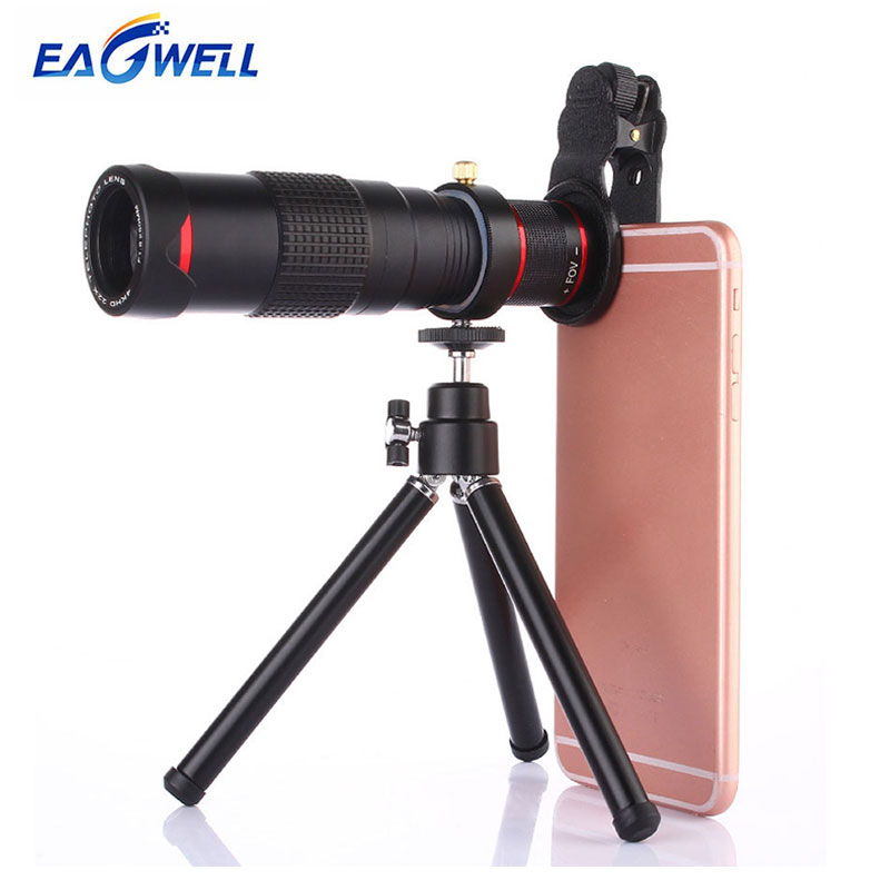 Universal 22X Dual Zoom Telescope Lens HD Mobile Phone Camera Optical Telephoto Lens for iPhone Samsung Xiaomi With Tripod
