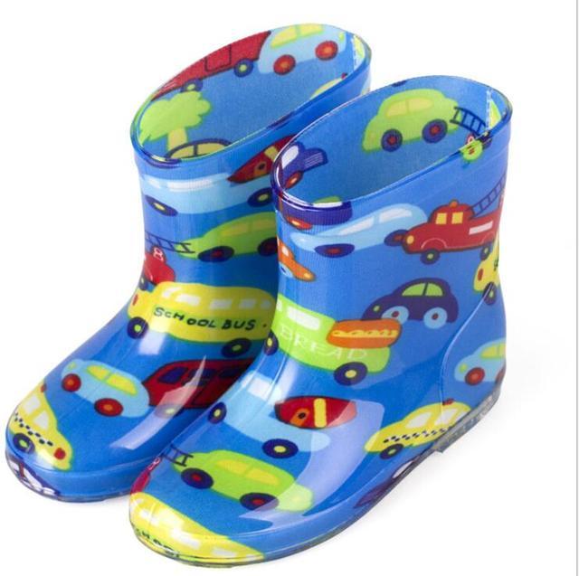 2019 yeni bebek çizmeleri Çocuk yağmur çizmeleri Ile Karikatür Baskı Kız Çocuk yağmur ayakkabıları Yay Su Geçirmez Çocuk lastik çizmeler Bebek ayakkabı