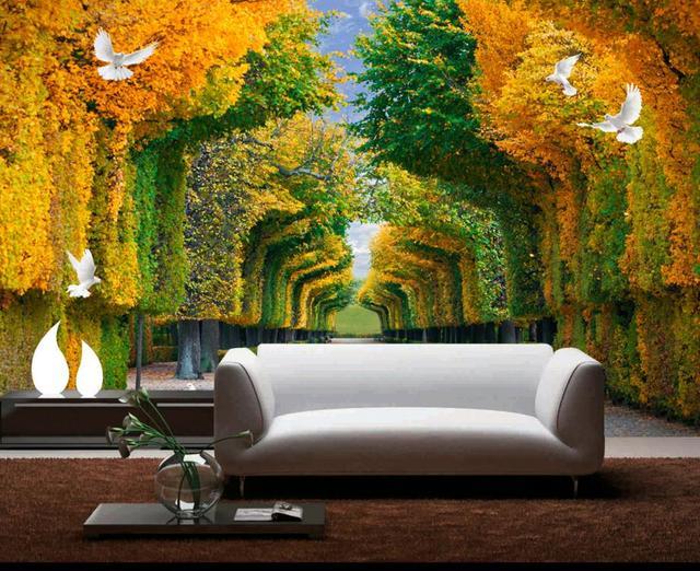 Personalizado 3d Murais Pintura Sombra Paredes Papel De Parede Para