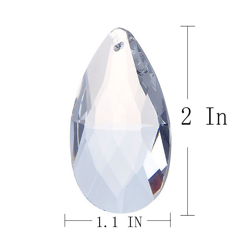 10 PCS Crystal Chandelier Teardrop Prisms Pendants 50mm with Two ...