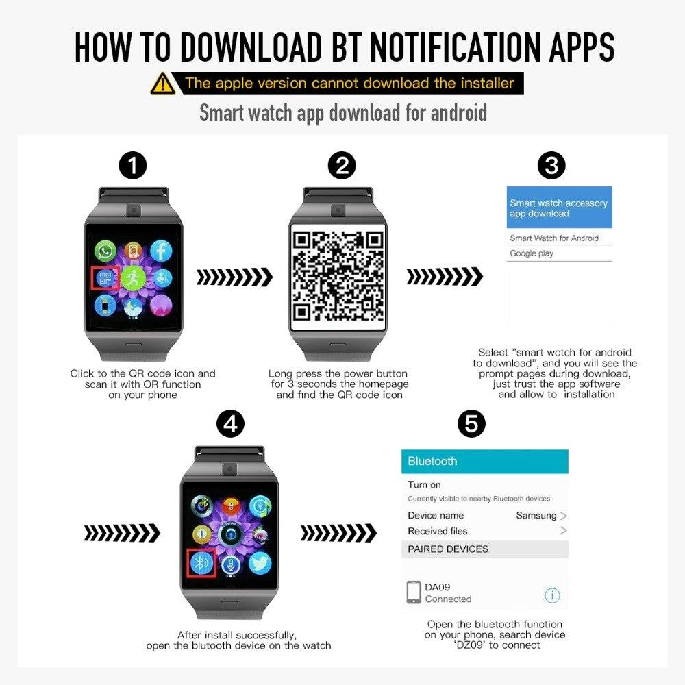 Cawono Dz09 Smart Watch Bluetooth Smartwatch Relogio Tf Sim Card