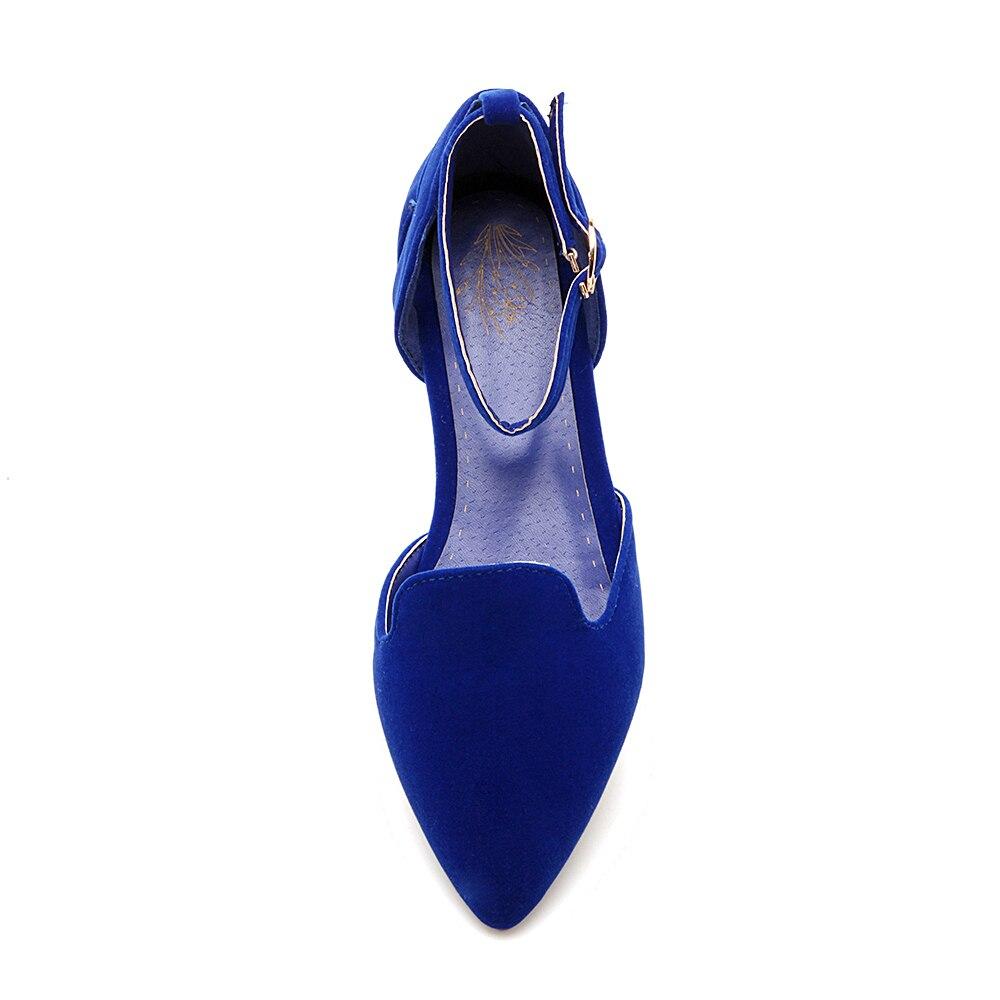 Boucle Pointu Chaussures blue Troupeau 28 Sangle red Mocassins Loisirs Printemps La automne Mode 2016 Nouveau Plus 52 Femmes Taille Black Bout Plates Principal Dames qHBZXWawx