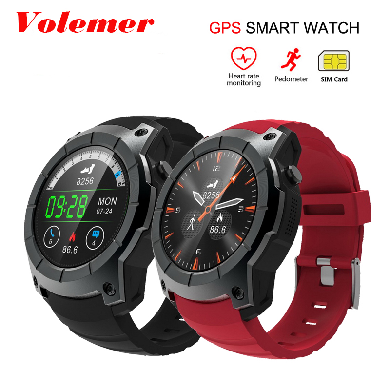 Volemer S958 GPS Smart Watch Heart Rate Monitor Sport Waterproof SIM Card Communication Bluetooth 4.0 Smartwatch for Android IOS roadtec smart watch gps sport watch bluetooth heart rate monitor smartwatch sim card montre connecte android wearable devices