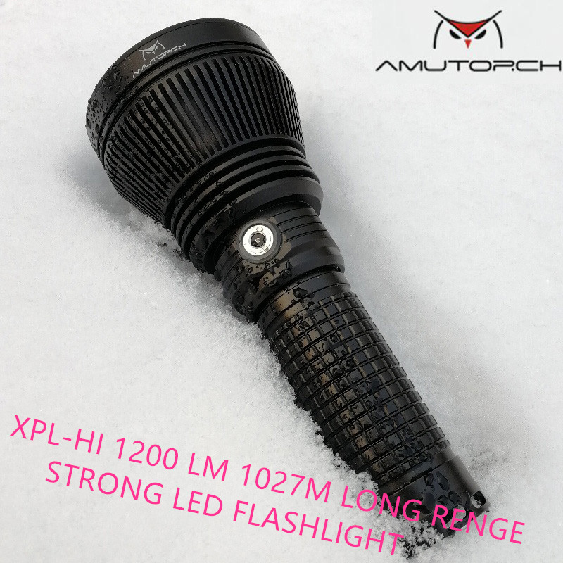 Amutorch JM70 CREE XPL HI 1200lumens powerful LED flashlight 1027m long shooting hunting 26650 flashlight USB magnetic charging