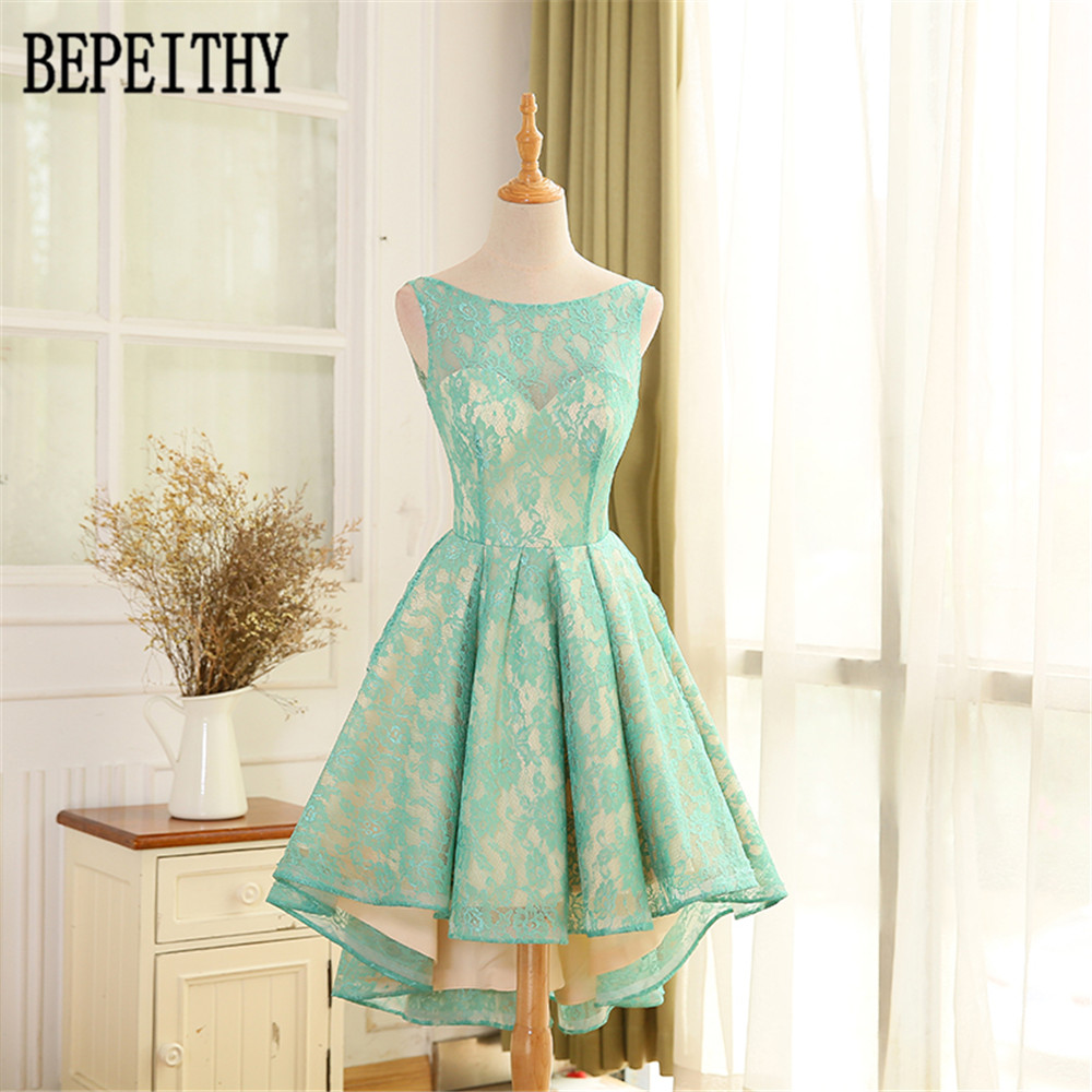 BEPEITHY Vestido De Festa New Arrival Real Photo Sexy Scoop Pink Lace   Prom     Dress   Open Back   Prom     Dresses   2018