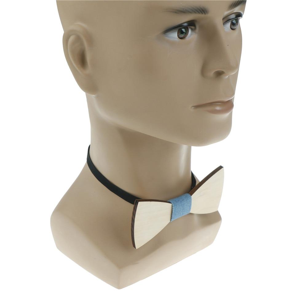 Simple Wood Bow Tie Mens Wooden Bow Ties Business Wedding Cravat Party Ties For Men Wooden Ties 5cm*12cm*0.5cm