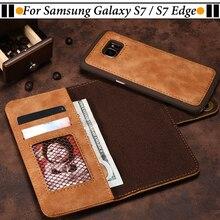 ЧЖУРЧЖЭНЕЙ Аргументы За Samsung Galaxy S7 Край Дело Флип Кожаный Бумажник магнит Сочетание Задняя Крышка Для Samsung Galaxy S7 Случай ШТ 31