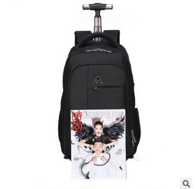ผู้หญิงเป้เดินทางที่มีล้อผู้ชายธุรกิจรถเข็นกระเป๋าเดินทางรถเข็นกระเป๋าMochilaฟอร์ดกลิ้งสัมภาระกระเป๋าเป้สะพายหลังกระเป๋า-ใน กระเป๋าเดินทาง จาก สัมภาระและกระเป๋า บน   3